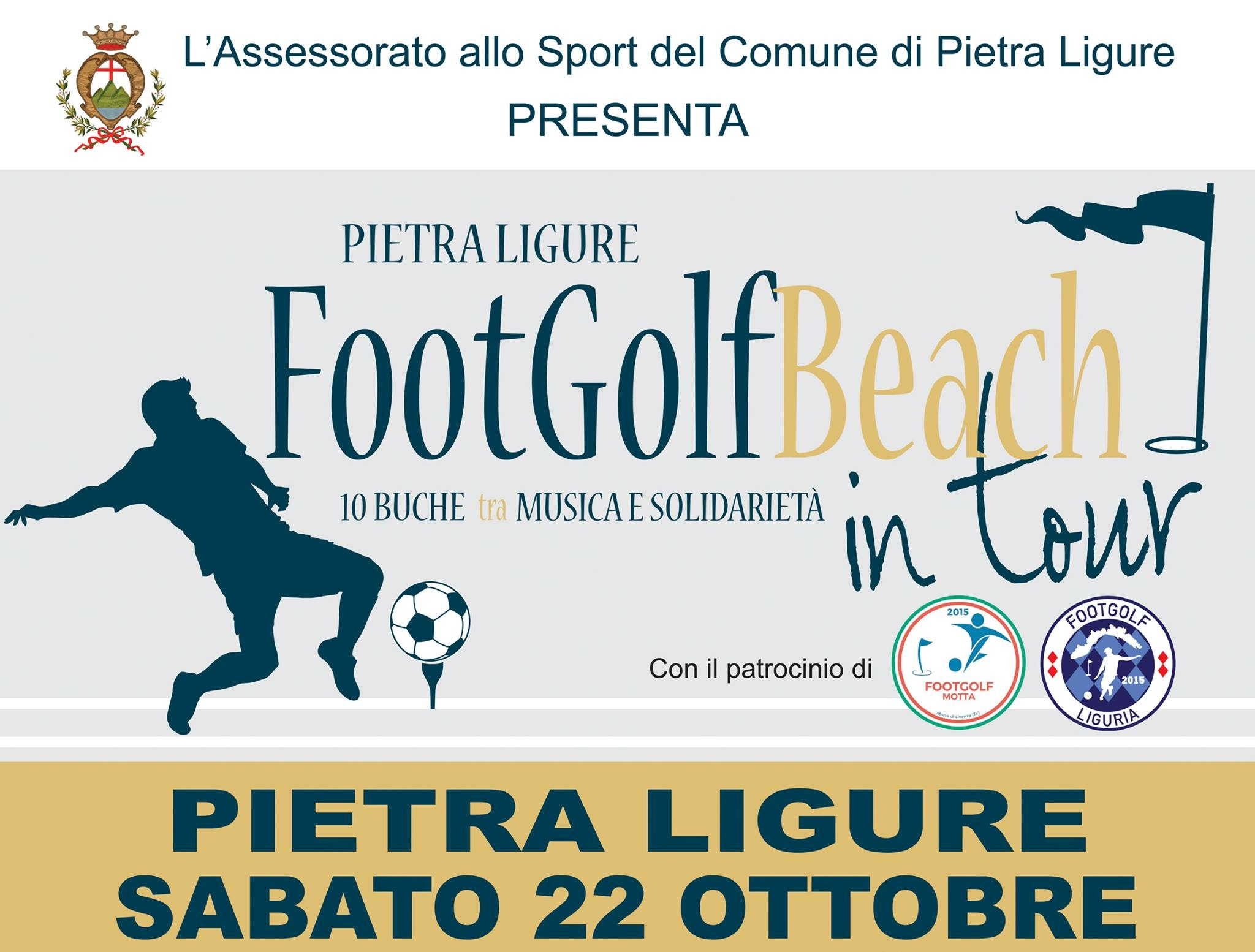 FOOTGOLF BEACH IN TOUR A PIETRA LIGURE