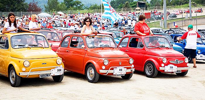 TORNA A GARLENDA IL MEETING INTERNAZIONALE DI FIAT 500 CLUB ITALIA