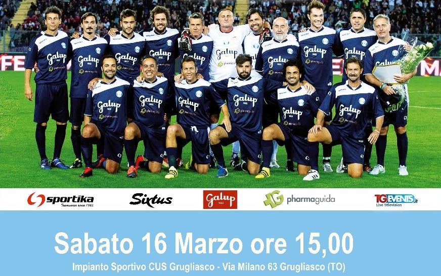 A Grugliasco scende in campo la Nazionale Calcio TV