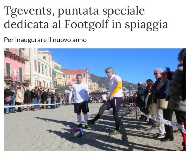 Speciale FOOTGOLF su TGevents